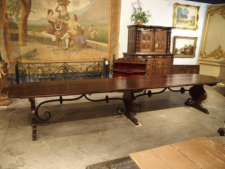 Florentine Dining Room: Florentine Renaissance Style Walnut Wood Monastery Table