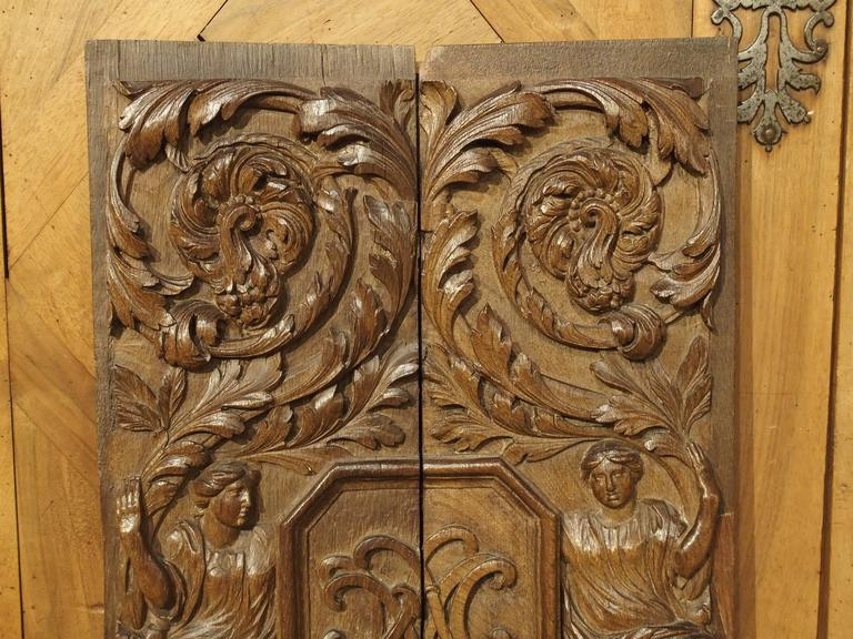 Pair Of 17th Century Renaissance Style Carved Panels From