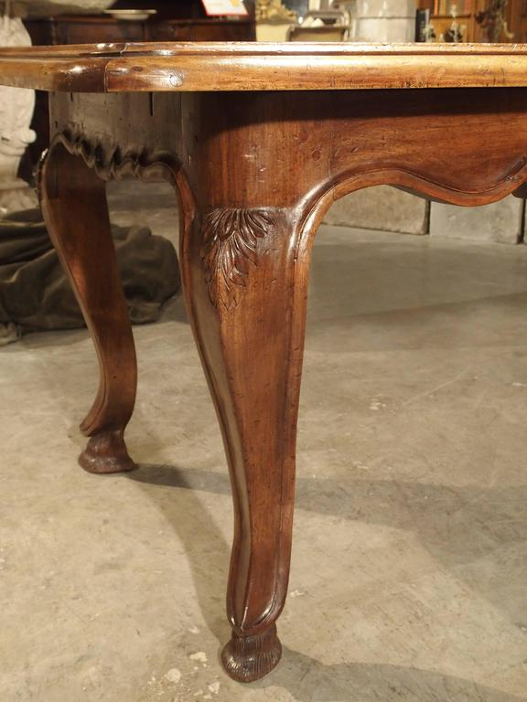 Unusual Antique French Walnut Wood Dining Table Mid 1800s