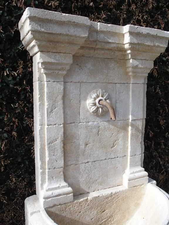 Carved Stone Fence : Large carved stone wall fountain from france for sale at