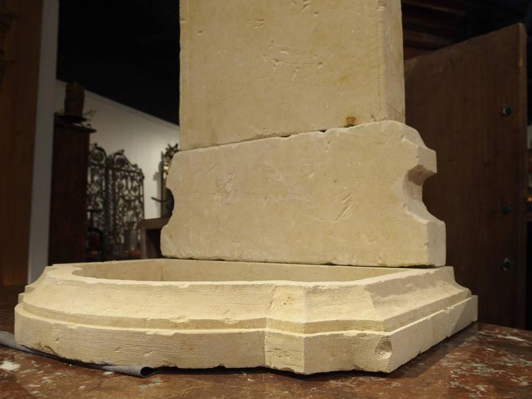Small Carved Limestone Wall Fountain from Italy For Sale 2