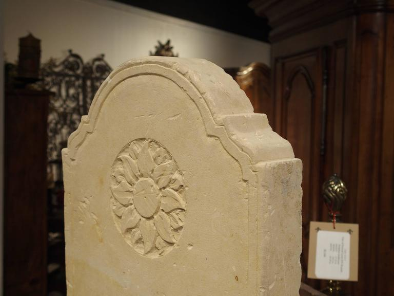 Small Carved Limestone Wall Fountain from Italy For Sale 3