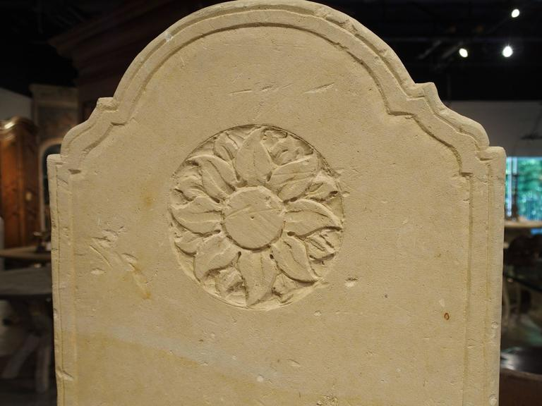 Small Carved Limestone Wall Fountain from Italy For Sale 4