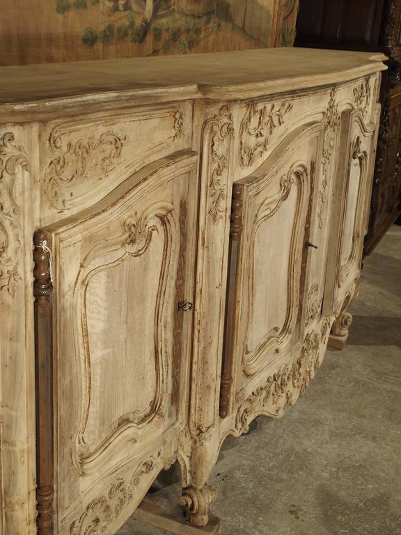 Louis XV Large Antique French Enfilade in Stripped Walnut For Sale - Large Antique French Enfilade In Stripped Walnut At 1stdibs