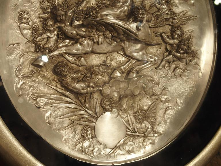 Pair of Classical Antique Silver Plate Plaques, 19th Century 10