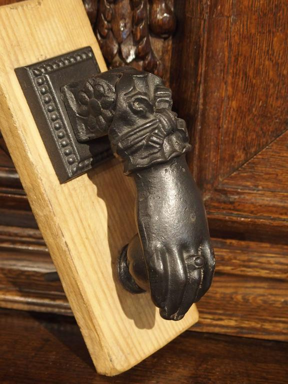 Small Iron Door Knocker from France For Sale 1