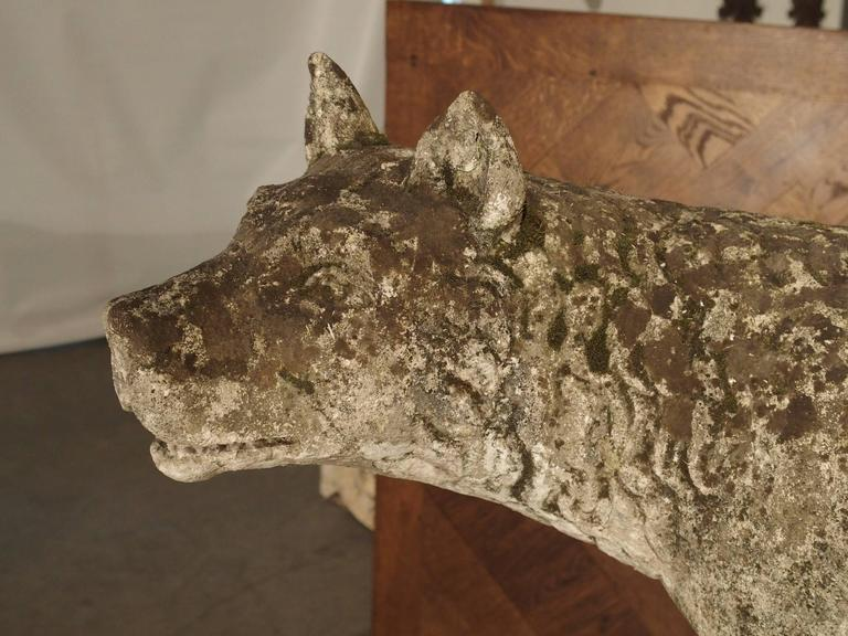 Antique Capitoline Wolf of Rome, Carved Pietra Di Vicenza Stone, circa 1910 10
