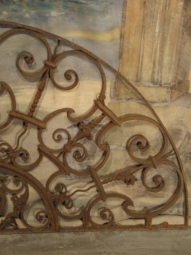 Bijoux Vintage Aix En Provence : Antique forged iron transom from france aix en provence