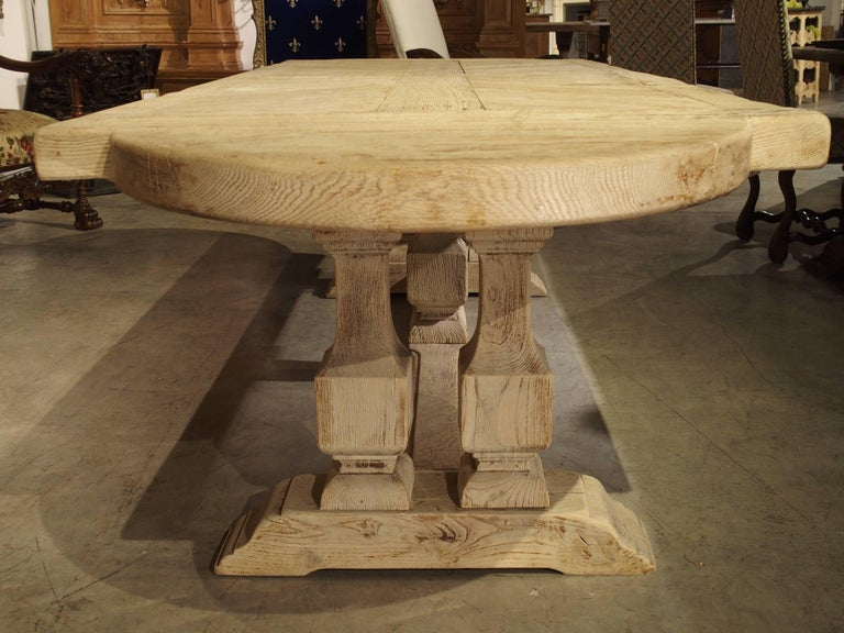 Stripped Oak French Baluster Leg Dining Table, Early to Mid1900s at 1stdibs