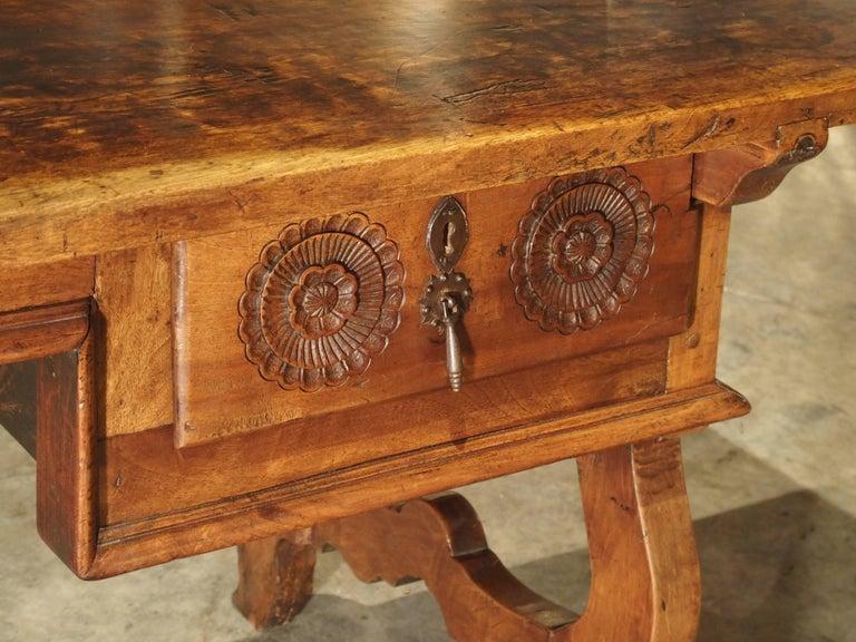 17th Century Catalan Walnut Wood Desk At 1stdibs