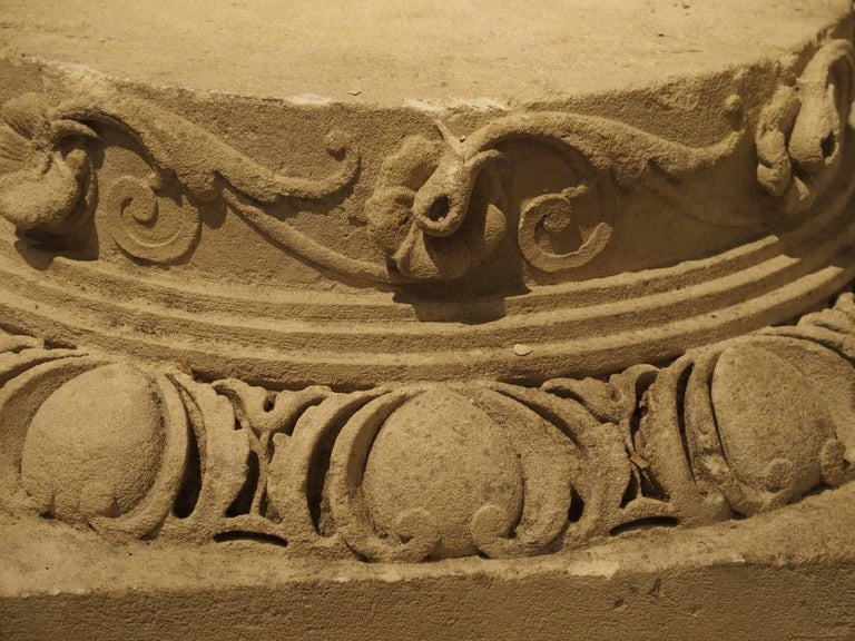 Set of Three Carved Stone Capitals from France, Near Beauvais, Early 1800s For Sale 2