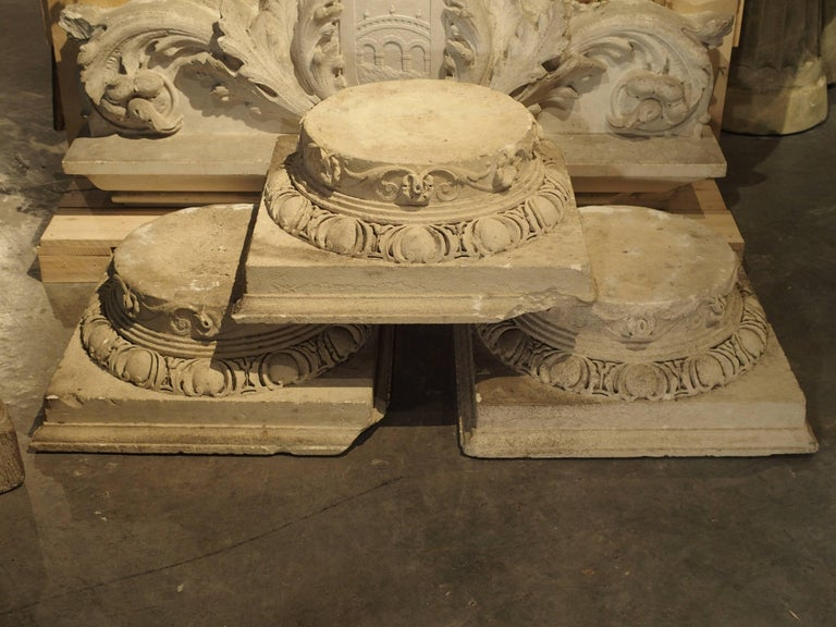 Set of Three Carved Stone Capitals from France, Near Beauvais, Early 1800s For Sale 3