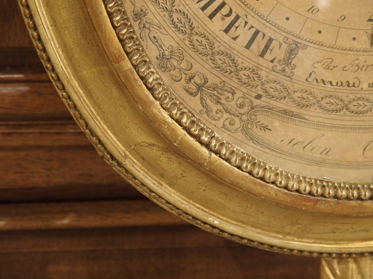 Louis XVI Period Giltwood Barometer from France, 1774-1793 For Sale 1