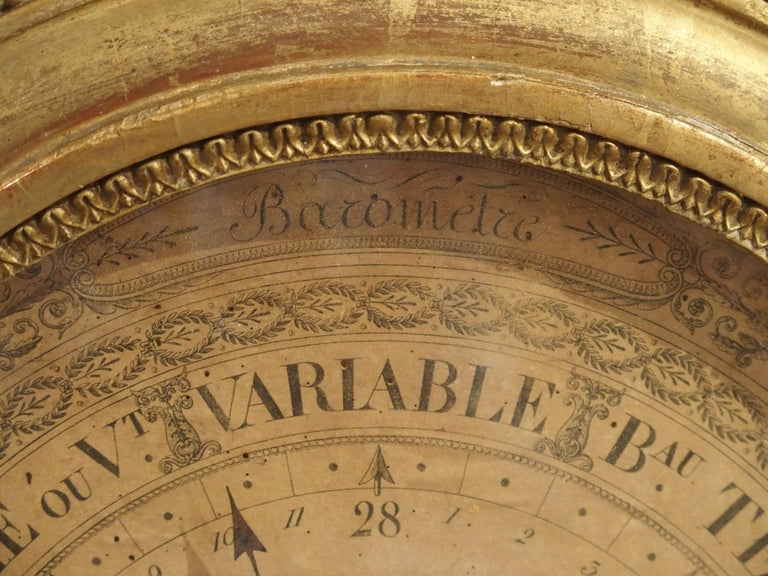 Louis XVI Period Giltwood Barometer from France, 1774-1793 For Sale 2