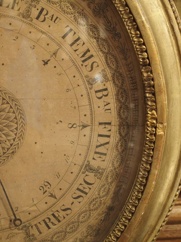 Louis XVI Period Giltwood Barometer from France, 1774-1793 For Sale 4