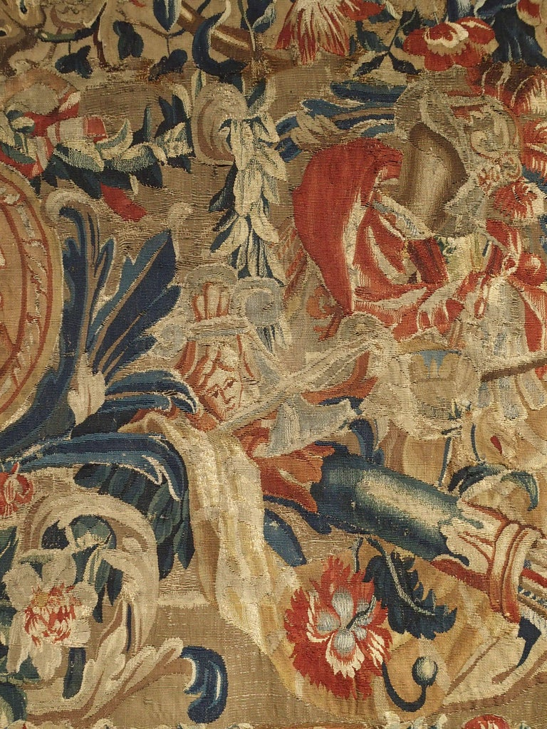 Antique French Beauvais Tapestry from the Late 17th Century In Good Condition For Sale In Dallas, TX