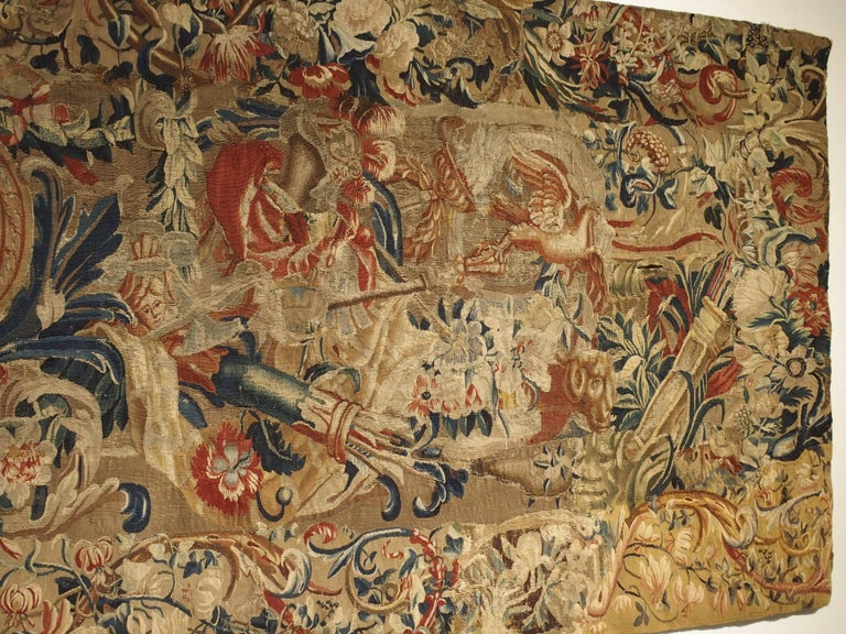 Antique French Beauvais Tapestry from the Late 17th Century For Sale 4