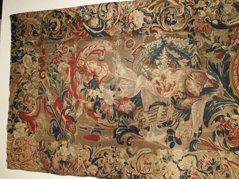 Antique French Beauvais Tapestry from the Late 17th Century For Sale 2