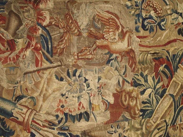 Antique French Beauvais Tapestry from the Late 17th Century For Sale 1