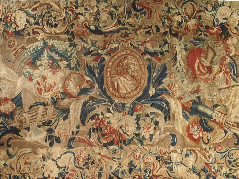 Antique French Beauvais Tapestry from the Late 17th Century For Sale 3