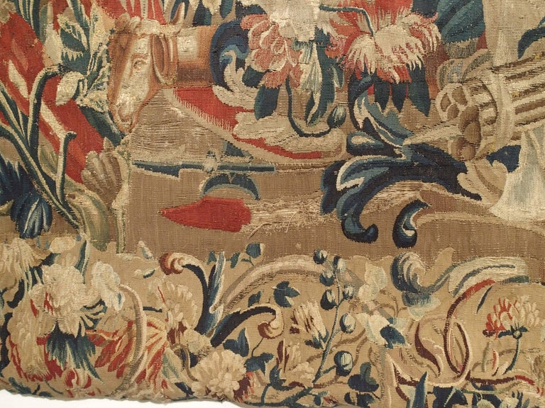 Louis XIV Antique French Beauvais Tapestry from the Late 17th Century For Sale