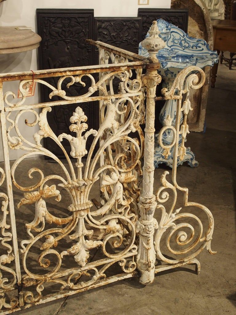 Circa 1860 Painted Cast Iron Balcony Railing from ...