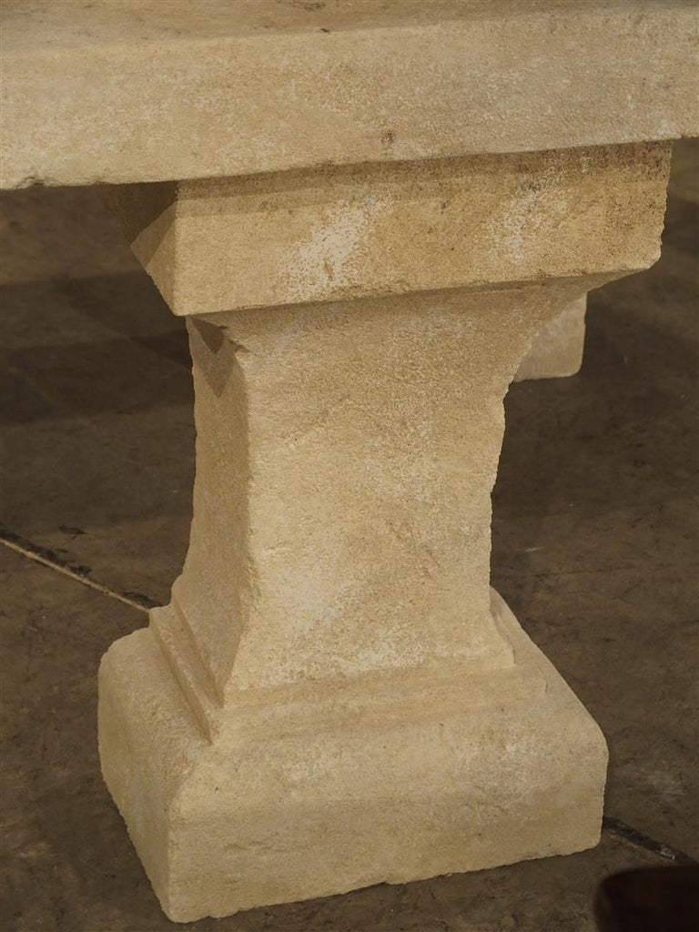 Pair of Carved Limestone Console Tables from the South of France For Sale 2