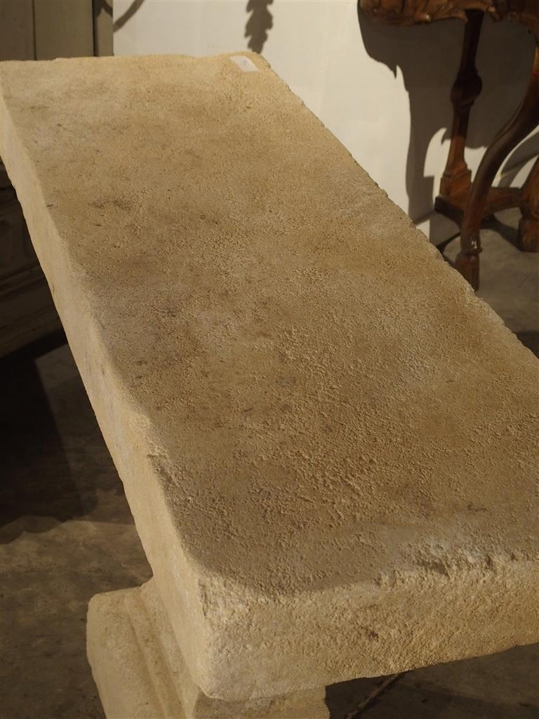 Pair of Carved Limestone Console Tables from the South of France For Sale 5