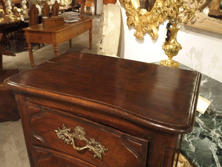 18th Century Walnut and Oak Chiffonier Chest of Drawers from France 2