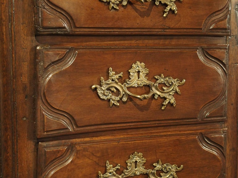 French 18th Century Walnut and Oak Chiffonier Chest of Drawers from France