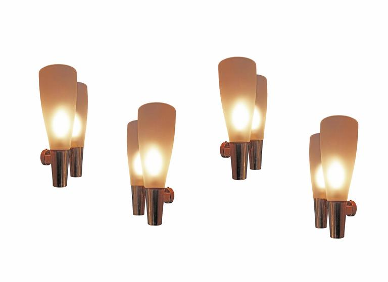 Four Wall Lights by Pietro Chiesa for Fontana Arte 4