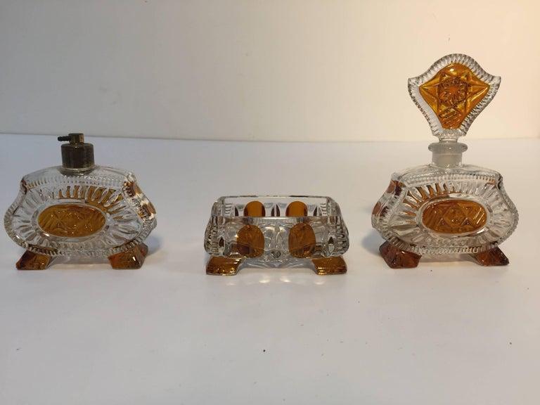 art deco bohemia karl palda crystal vanity set  1930s for sale at 1stdibs