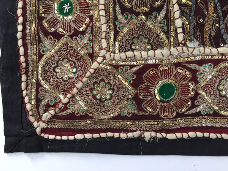 Anglo Raj Vintage Handcrafted and Quilted Textile from India For Sale
