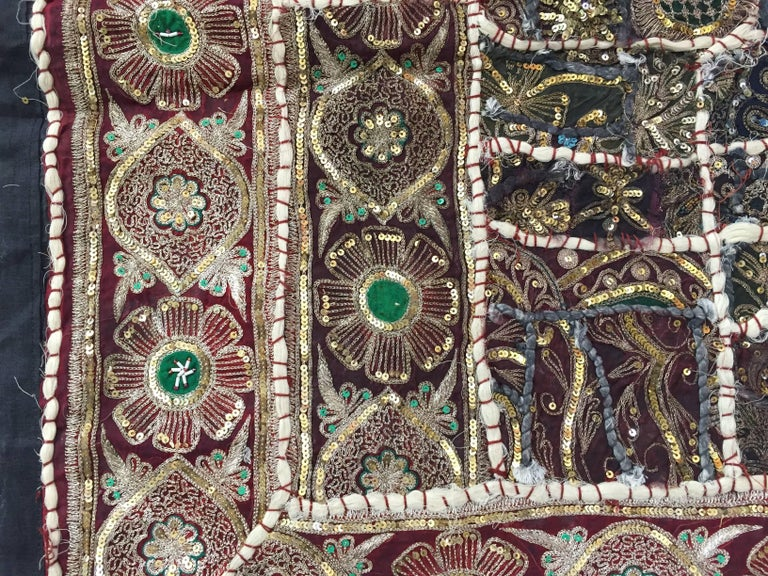 Indian Vintage Handcrafted and Quilted Textile from India For Sale
