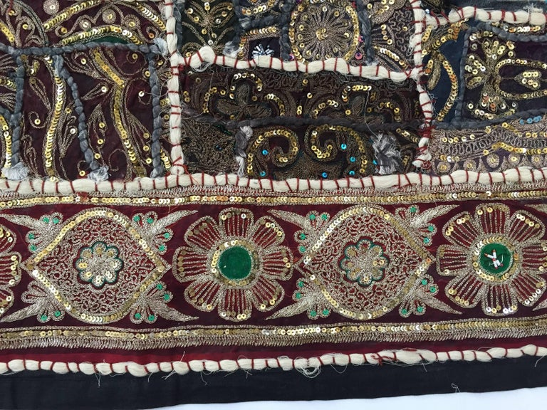 Hand-Crafted Vintage Handcrafted and Quilted Textile from India For Sale