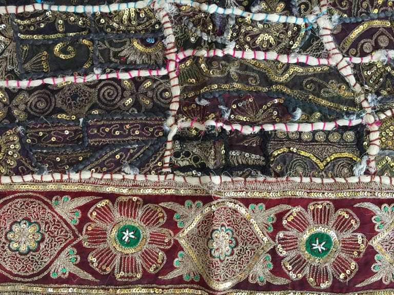 Vintage Handcrafted and Quilted Textile from India For Sale 1