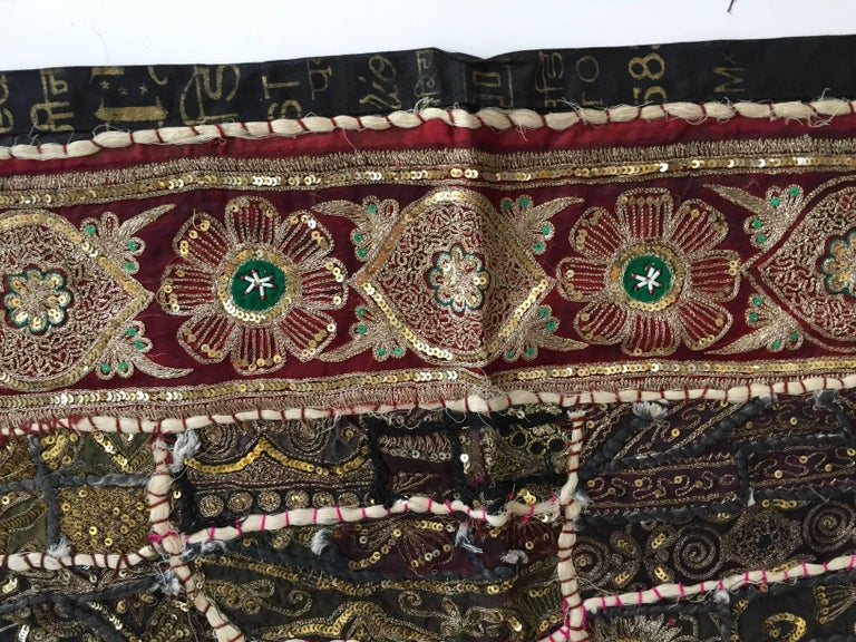 Vintage Handcrafted and Quilted Textile from India For Sale 2