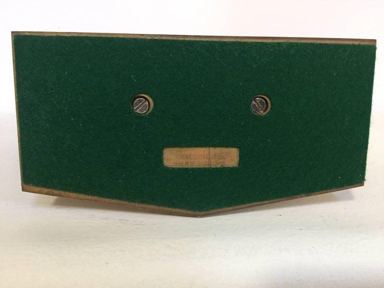 Brushed Modernist Desk World Clock Kundo by Kieninger & Obergfell West Germany 1960s For Sale