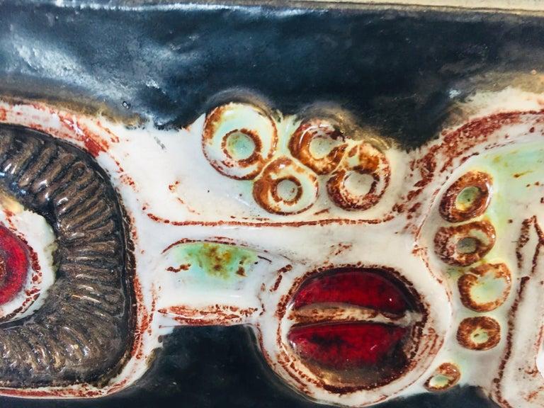 Vintage Belgian Tile Faced Entry Door Pull Handle by Artist Juliette Belarti For Sale 7