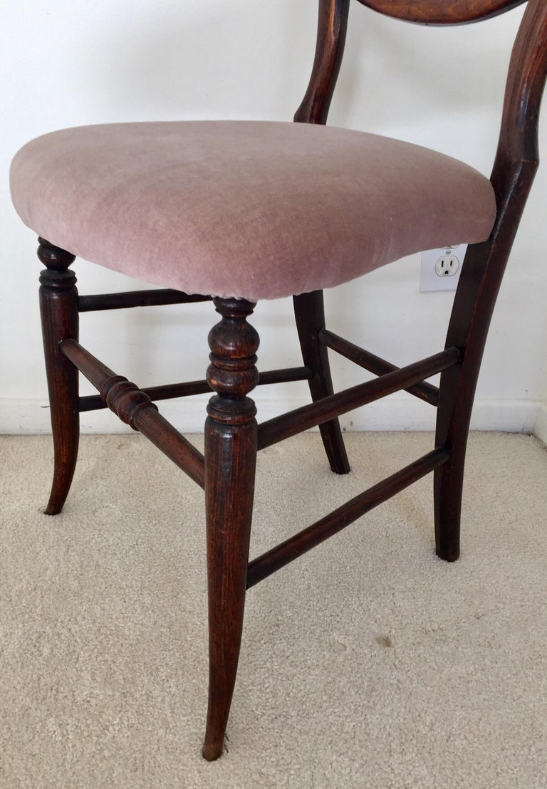 Pair of 19th Century Victorian Walnut Chairs For Sale 6