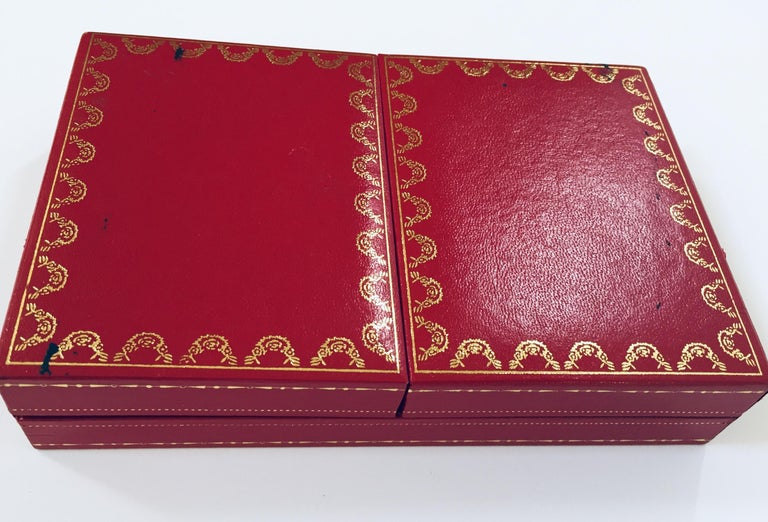 Must de Cartier Paris Vintage Playing Poker or Bridge Cards in Red Box For Sale 7