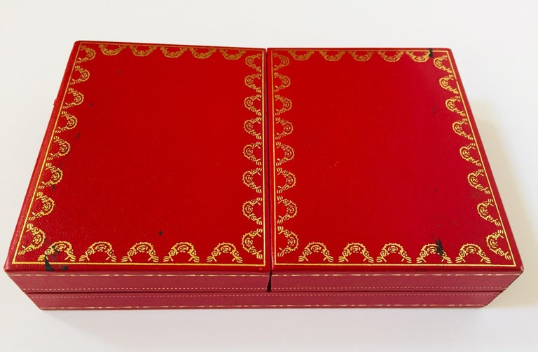 Must de Cartier Paris Vintage Playing Poker or Bridge Cards in Red Box For Sale 11