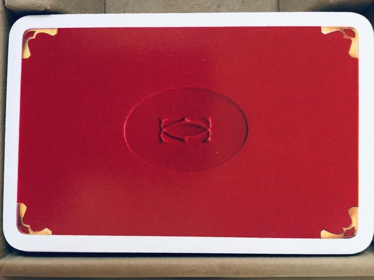 Hand-Crafted Must de Cartier Paris Vintage Playing Poker or Bridge Cards in Red Box For Sale
