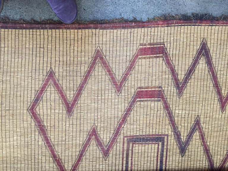 Vintage Moroccan Leather Tuareg Rug North Africa 6