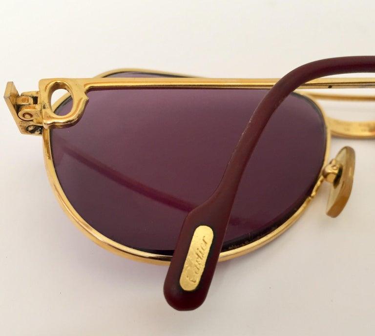 Cartier Vintage Large Vendome Santos Sunglasses with Box, 1980 2