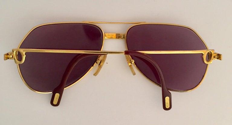 Cartier Vintage Large Vendome Santos Sunglasses with Box, 1980 3