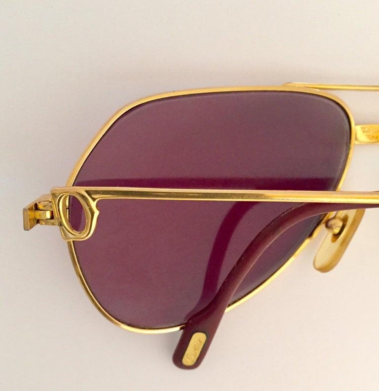Cartier Vintage Large Vendome Santos Sunglasses with Box, 1980 4