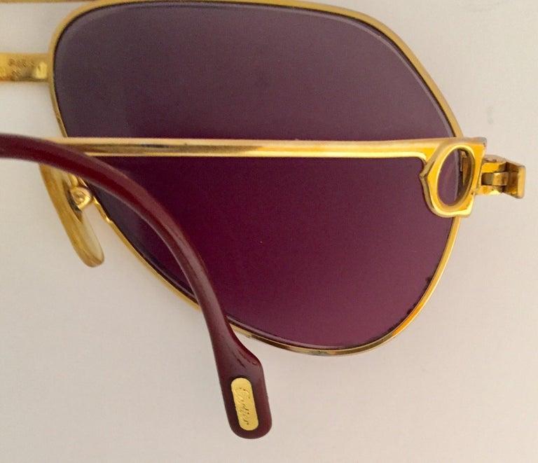 Cartier Vintage Large Vendome Santos Sunglasses with Box, 1980 5