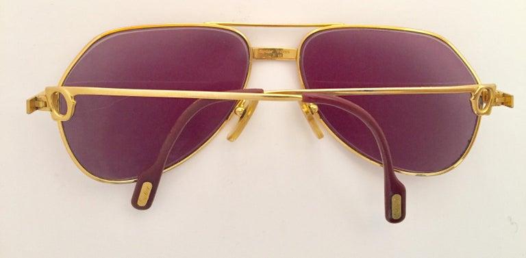 Cartier Vintage Large Vendome Santos Sunglasses with Box, 1980 6