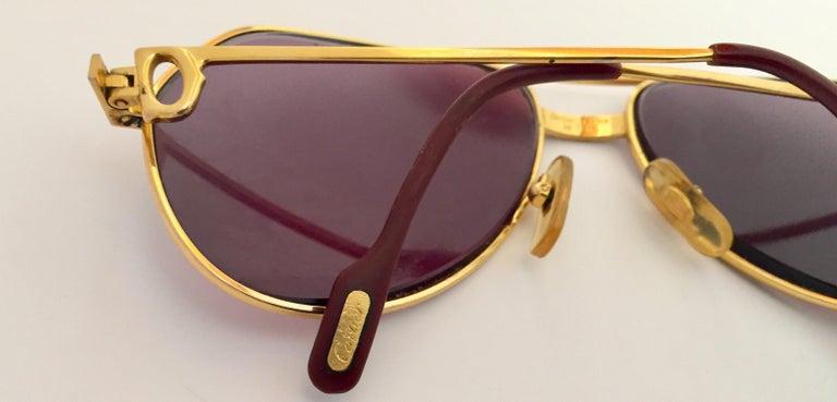 Cartier Vintage Large Vendome Santos Sunglasses with Box, 1980 7